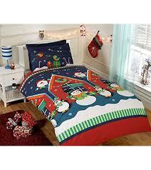 CHRISTMAS DUVET COVER BEDDING SETS – TWIN DOUBLE & JUNIOR – SANTA ... & CHRISTMAS DUVET COVER BEDDING SETS – SINGLE DOUBLE & JUNIOR – SANTA SNOWMAN  XMAS Adamdwight.com