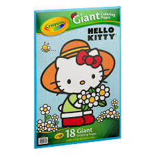 They love hello kitty coloring pages as these allow them to spend some quality time with their favorite cute bobcat while playing with colors and shades. Crayola Giant Coloring Pages Featuring Hello Kitty 18 Count Walmart Com Walmart Com