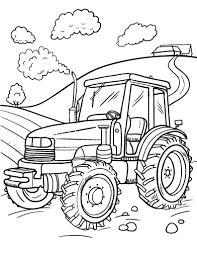 tractor color pages. Plain Tractor Free Tractor Coloring Page In Color Pages E