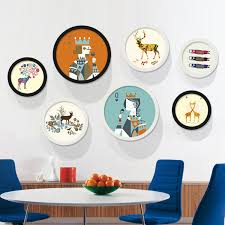 get ations circular living room decorative painting modern minimalist paintings framed painting small fresh cartoon children s bedroom wall