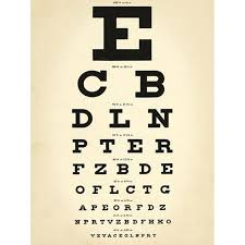 Dr Office Eye Chart Eye Chart Doctors Office Wall Decal