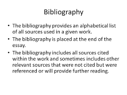 the humanities essay ppt 8 bibliography