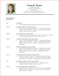 Resume Format For Dance Choreographer Dancer Resume Template Photograph Gallery Of Dance Shalomhouseus 3