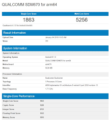 Purported Snapdragon 670 Benchmark Scores Show It Trading