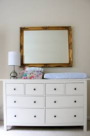 ... Contemporary Bedroom Decoration With Ikea Hemnes 3 Drawer Chest :  Wonderful Bedroom Decoration Using Rectangular Gold