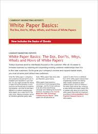 sample white paper template documents in pdf word white paper sample template