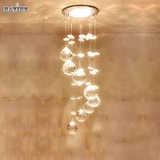 modern crystal ceiling light fixture spiral crystal lamp crystal re light ing led lamp for aisle
