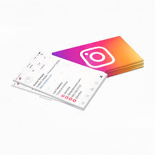 Instagram Profile Social Media Business Cards