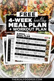 workout meal plan free
