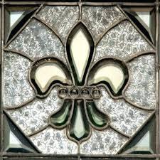 fleur de lis stained glass image 0 stained glass lit pestal photo fine fleur de lis
