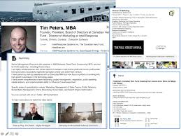 examples of highly impactful linkedin profiles tim peters