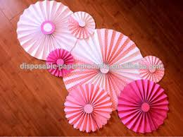 Paper Rosette Flower 2015 New Pink Diy Paper Rosettes Fan Backdrop Paper Paper Flowers