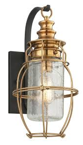 troy lighting b3572 little harbor outdoor um wall lantern constructed by solid brass metal