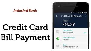 indusind bank credit card bill payment in real time you