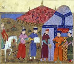 genghis khan gone indie the mongol khan meets envoys from rashid al din s world history