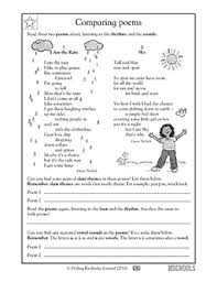 th grade reading worksheets poems comparing greatschools skills compare