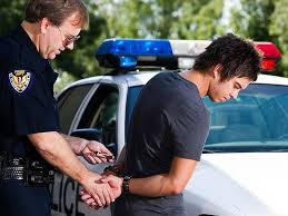Pictures of teen being arrested