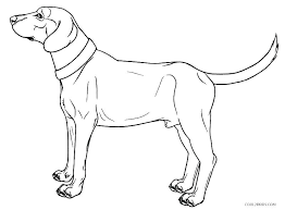 Cute Dog Coloring Pages Speaks On The Phone Cute Cartoon Dog