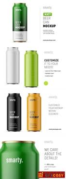 Creativity does not know limits nor does the list of flavors that can be showcased with this resource, especially when combined with the free textures. 50 Beer Beverage Can Mockup Style Design Candacefaber