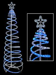 Christmas Outdoor Rope Light 3d Train Blue Cool White 3d Led Rope Light Spiral Tree 1 8m