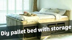 pallet bed frame instructions pallet bed frame with storage