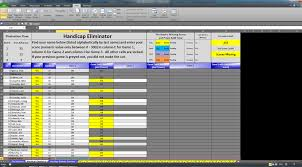 Bowling Spreadsheets Eliminator Bracket Excel Software For Sale For Sale Wanted