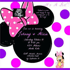 Mickey Mouse Baby Shower Invitations Free Invitation Template