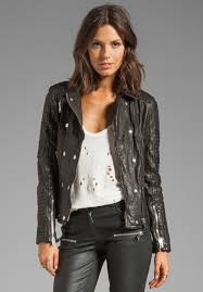 anine bing moto leather jacket in black at revolve clothing free