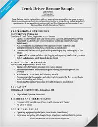 Sample Resume For Truck Driver Mesmerizing Truck Driver Resume Sample And Tips Genius Printable Format 48