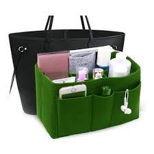 Felt Insert Fabric Purse Organizer Bag Bag Insert In Bag With Zipper Inner Pocket Fits Neverfull Speedy 8010 Green L