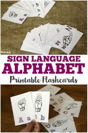 Free Printable Abc Sign Language Chart Free Printable Sign Language Alphabet Flashcards Print
