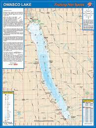 Owasco Fishing Map