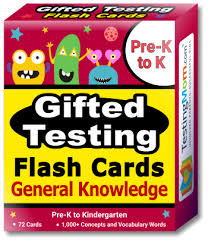 gifted testing general knowledge flash cards pack for pre k kindergarten