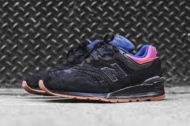 new balance 997. new balance 997 magnet colorway black purple pink red n logo suede gum brown rubber sole