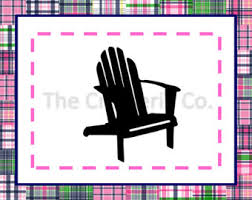 adirondack chair silhouette. Adirondack Chair PNG + SVG Files - Commercial \u0026 Personal Use Vector Art SVG, Silhouette