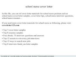 Cover Letter For School Nurse Position Resume Letter Directory