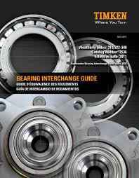 Bearing Interchange Guide Timken Pdf Catalogs