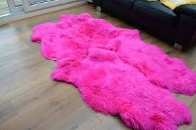 pink sheepskin rugs pink quad sheepskin rug genuine amazing soft wool pink sheepskin rugs australia
