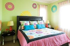 bedroom ideas for teenage girls green. Unique Green Awesome Girl Bedroom Design With Huge Bed And Green Wall Artistic  Decor Inside Ideas For Teenage Girls