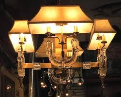 crystal swans hollywood regency chandelier