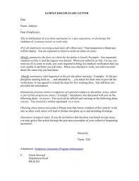 Letter Warning Letter Sample