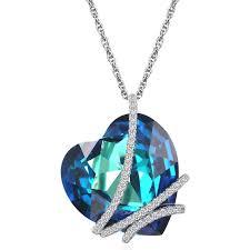 swarovski crystal heart necklace clipart