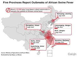 Chart The Spread Of African Swine Fever Across China