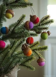 Acorn felt Christmas Tree Ornaments
