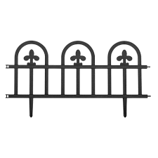 wrought iron fence victorian. Suncast 8 Wrought Iron Black Fence Edging Lawn Garden Fencing Landscape Victorian