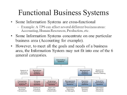 Functional Business Systems Some Information Systems Are