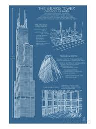 architecture blueprints skyscraper. Simple Blueprints 366x488 Sears Tower Blue Print To Architecture Blueprints Skyscraper N