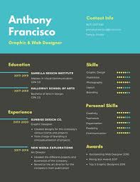 Graphic Resume Customize 122 Infographic Resume Templates Online Canva