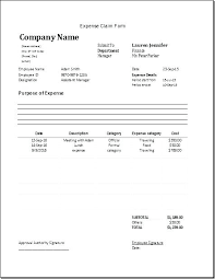 Employees Can Use This Expenses Template Travel Expense Form Excel ...