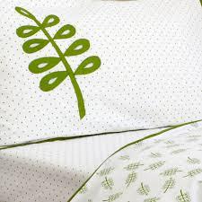 leafy green cot bed duvet set